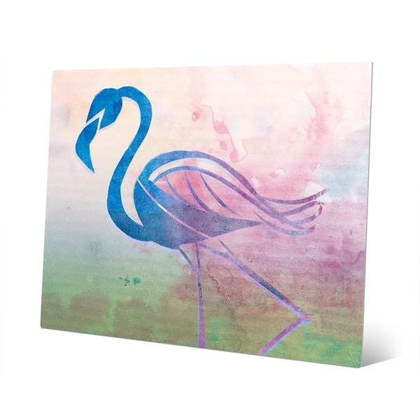Cerulean Paper Flamingo' Wall Art on Metal
