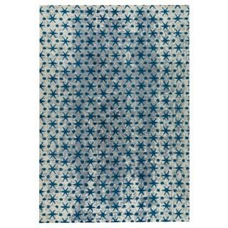 M.A.Trading Hand-woven Modesto Blue (5'x8')