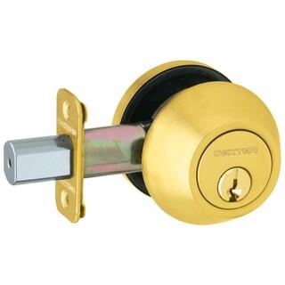 Schlage JD62V605 Bright Brass Double Cylinder Deadbolt