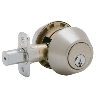 Schlage JD62V619 Satin Nickel Double Cylinder Deadbolt