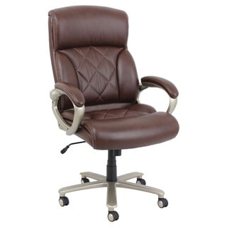 Karl Brown Bonded Leather Match Office Chair