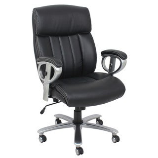 Kera Black Bonded Leather Office Chair
