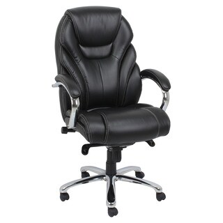 Nita Black Bonded Leather Office Chair