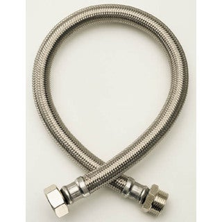 """Fluidmaster B1F16 3/8"""" X 1/2"""" X 16"""" Braided Stainless Steel Faucet Connectors"""