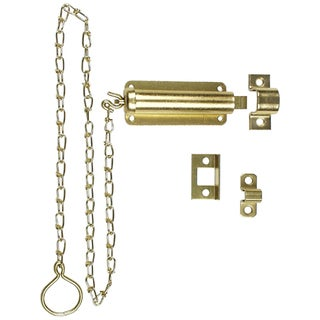 "Stanley Hardware 757030 4"" Satin Brass Door Bolts With Chain"