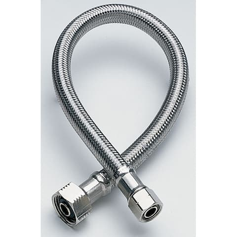 """Fluidmaster B3F20 1/2"""" X 1/2"""" X 20"""" Braided Stainless Steel Faucet Connectors"""