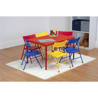 Safety First 7 Piece Children's Juvenile Set with Pinch Free Folding Chairs and Screw in Leg Table|https://ak1.ostkcdn.com/images/products/12535612/P19338934.jpg?impolicy=medium