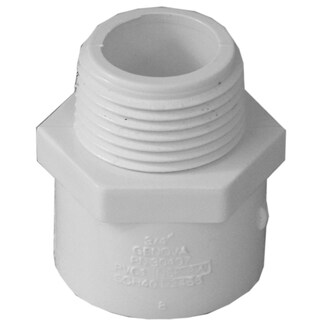 """Genova Products 30407CP 10-count 3/4"""" PVC Male Adapter"""