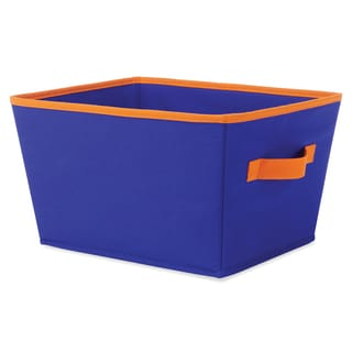 "Whitmor 6256-1501-BLUOR 13 X 10"" X 7.5 Blue & Orange Fashion Tote"