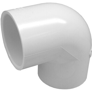 """Genova Products 30705CP 10-count 1/2"""" PVC 90-degree Elbow"""