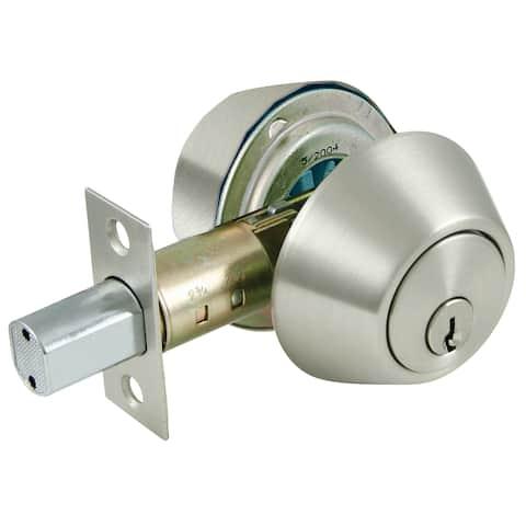 Ultra Hardware 43626 Satin Nickel Double Cylinder Deadbolt Lock