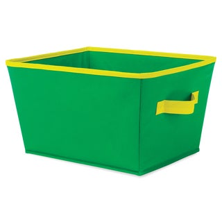 "Whitmor 6256-1501-GRNYL 13"" X 10"" X 7.5"" Small Green & Yellow Tote"