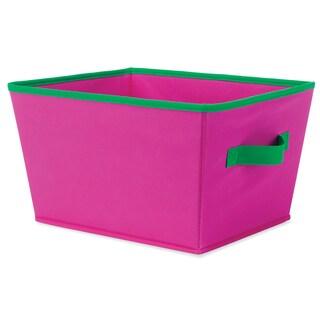 """Whitmor 6256-1501-PNKGR 13 X 10"""" X 7.5 Pink & Green Fashion Tote"""