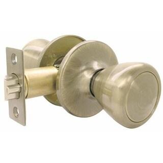 Ultra Hardware 43961 Antique Brass Passage Lockset Ultra Security Series