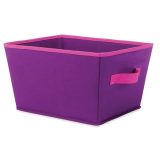 "Whitmor 6256-1501-PRPLP 13"" X 10"" X 7.5"" Small Purple & Pink Fashion Tote"