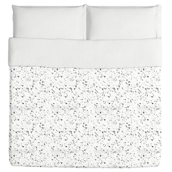 Grey Triangle Snow Duvet Cover