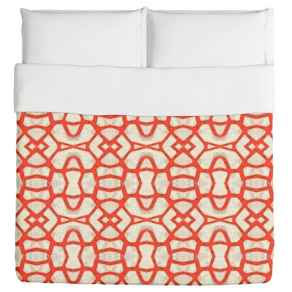 Red Coral Duvet Cover