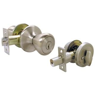 Ultra Hardware 43971 SS Single Cylinder Deadbolt & Entry Combo Lockset