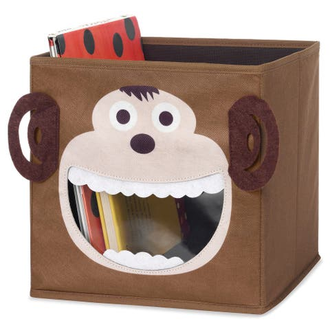 Whitmor 6256-4925-MONKY Brown Monkey Collapsible Storage Cube