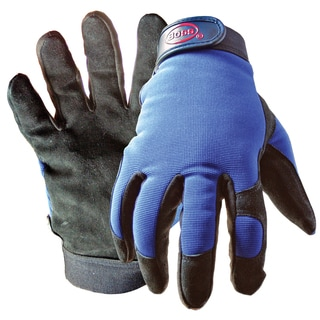 Boss Gloves 890L Black & Blue Boss Guard Leather Gloves
