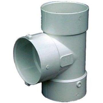 "Genova Products 41440 4"" PVC Bull Nose Tee (Bulnose Tee D..."