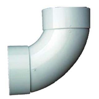 "Genova Products 42840 4"" PVC 90° Sanitary Elbow"