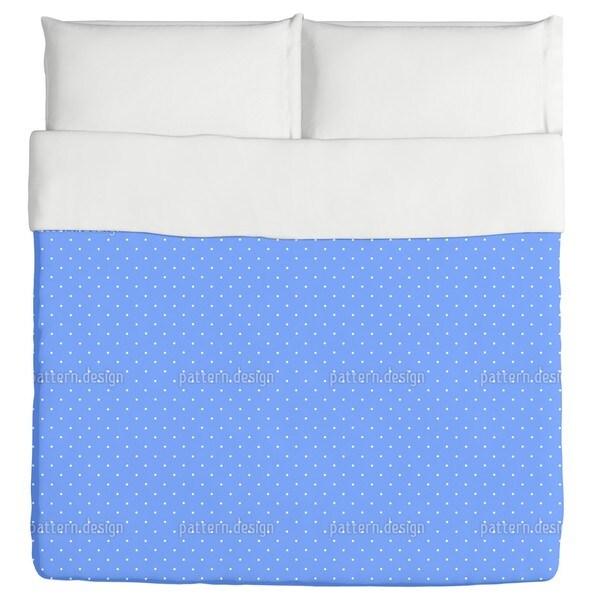 Dots On Blue Duvet Cover