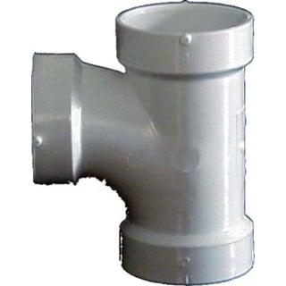 "Genova Products 71140 4"" Sch. 40 PVC-DWV Sanitary Tees"