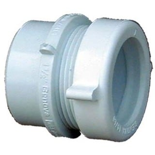 "Genova Products 72311 1-1/2"" X 1-1/4"" Sch. 40 PVC-DWV Fitting Trap Adapter"
