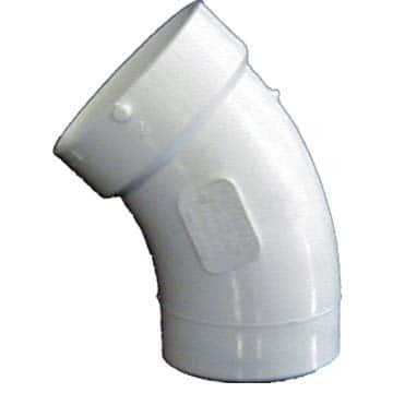 "Genova Products 72730 3"" Sch. 40 PVC-DWV 45-degree Street Elbows"
