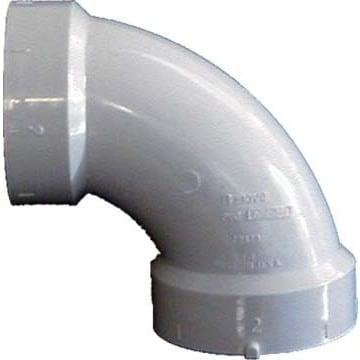 Genova Products 72820 2 Sch. 40 PVC-DWV 90-degree Sanitary Elbows (Dwv 90 San Ell 2)