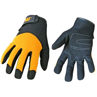 Cat Gloves CAT012215J Jumbo Yellow Spandex Back Gloves
