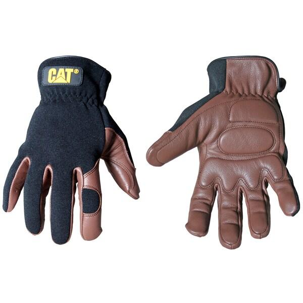 Cat Gloves CAT012216J Jumbo Brown Deerskin & Spandex Gloves