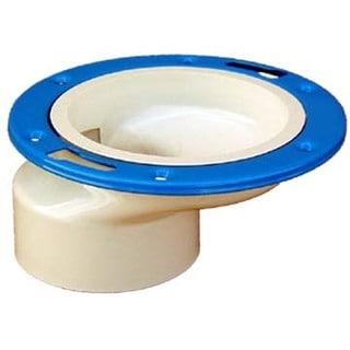 "Genova Products 75160 4"" X 3"" Sch. 40 PVC-DWV Offset Closet Flange Adjustable Ring"