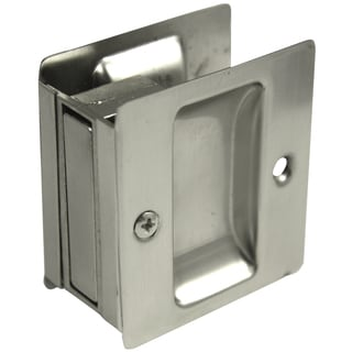 Ultra Hardware 49601 Satin Nickel Passage Pocket Door Lock