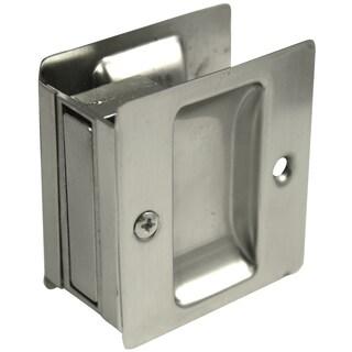 Ultra Hardware 49601 Satin Nickel Passage Pocket Door Lock