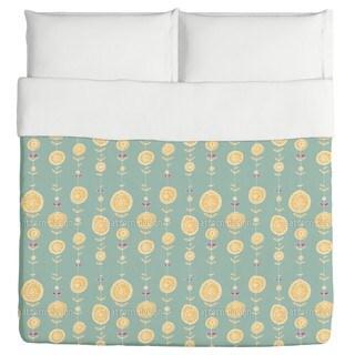 Lei Yellow Duvet Cover