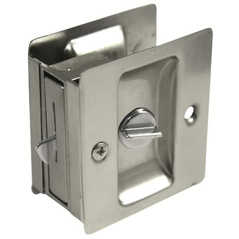 Ultra Hardware 49606 Satin Nickel Privacy Pocket Door Lock