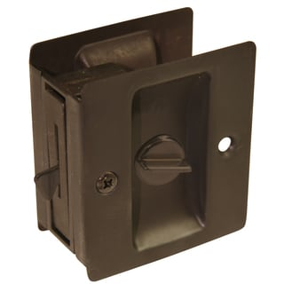 Ultra Hardware 49607 Oil Rubbed Bronze Privacy Pocket Door Lock