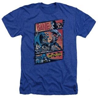 Batman/Epic Battle Adult Heather T-Shirt in Royal