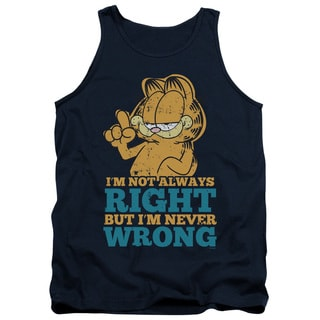 Garfield/Never Wrong Adult Tank in Navy