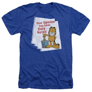 Garfield/Duly Noted Adult Heather T-Shirt in Royal