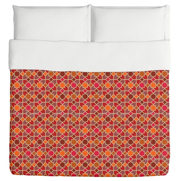 Morocco Red Duvet Cover