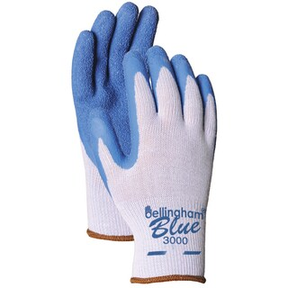 Bellingham Glove C3000L Blue Latex Palm Dip Gloves