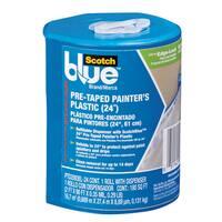"3M PTD2093EL-24-S 24"" X 90' Pre-Taped Painter's Plastic w/ Dispenser"