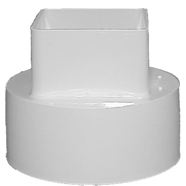 Raingo RW207 4 White Downspout Adapter (Adaptor Dwnspout Wht)