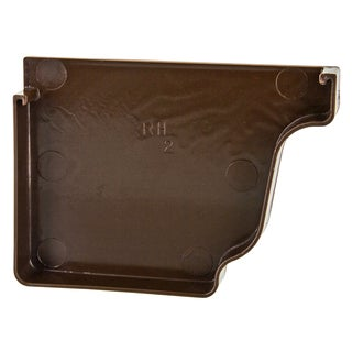 Repla K AB101K Brown Right Gutter End Cap