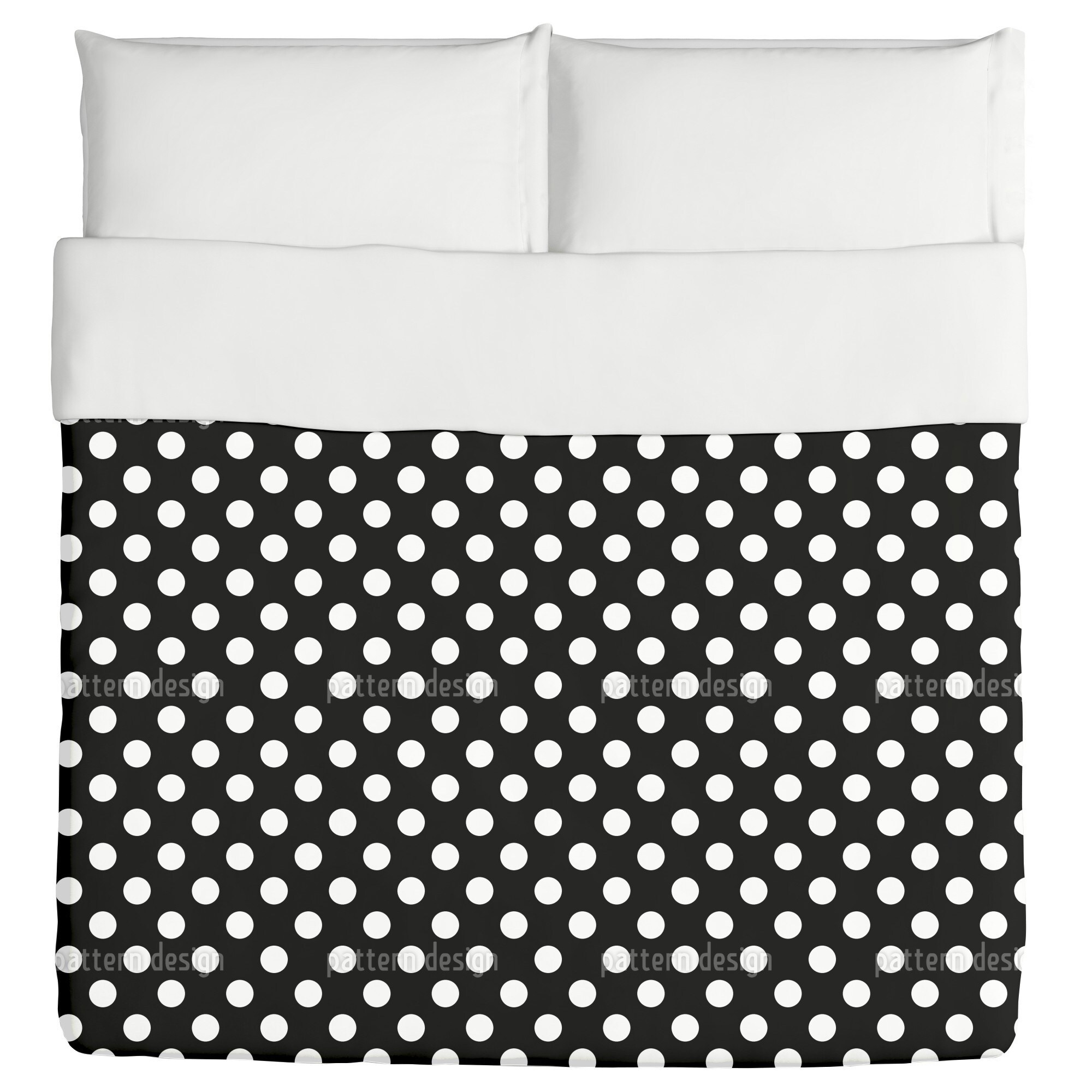 Uneekee Big Polka Dots Duvet Cover (Queen), Multi (Polyes...