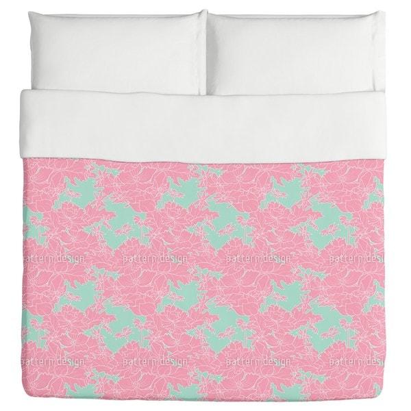 Vintage Flowers Pink Duvet Cover
