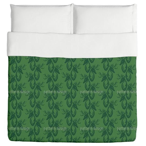 Green Stag Duvet Cover